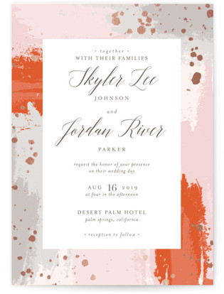 photo of The Artist's Wedding Foil Pressed Wedding Invitations