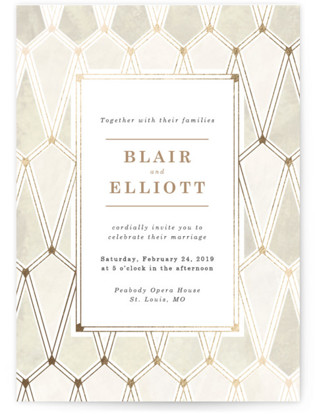 photo of Opulence Foil Pressed Wedding Invitations