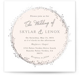This is a pink foil stamped wedding invitation by Tatiana Nogueiras called Tiara with foil-pressed printing on signature in standard.