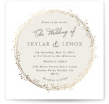 This is a beige foil stamped wedding invitation by Tatiana Nogueiras called Tiara with foil-pressed printing on signature in standard.