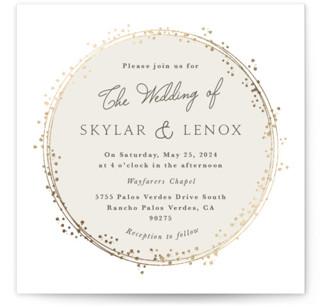 Tiara Foil-Pressed Wedding Invitations