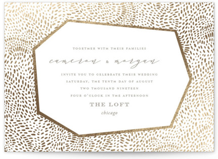 photo of Lovely Beginning Foil Pressed Wedding Invitations