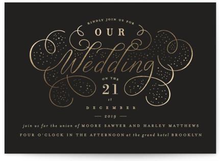 photo of Glitz Foil Pressed Wedding Invitations