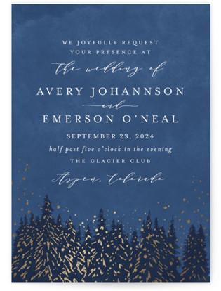 Aspen Foil-Pressed Wedding Invitations