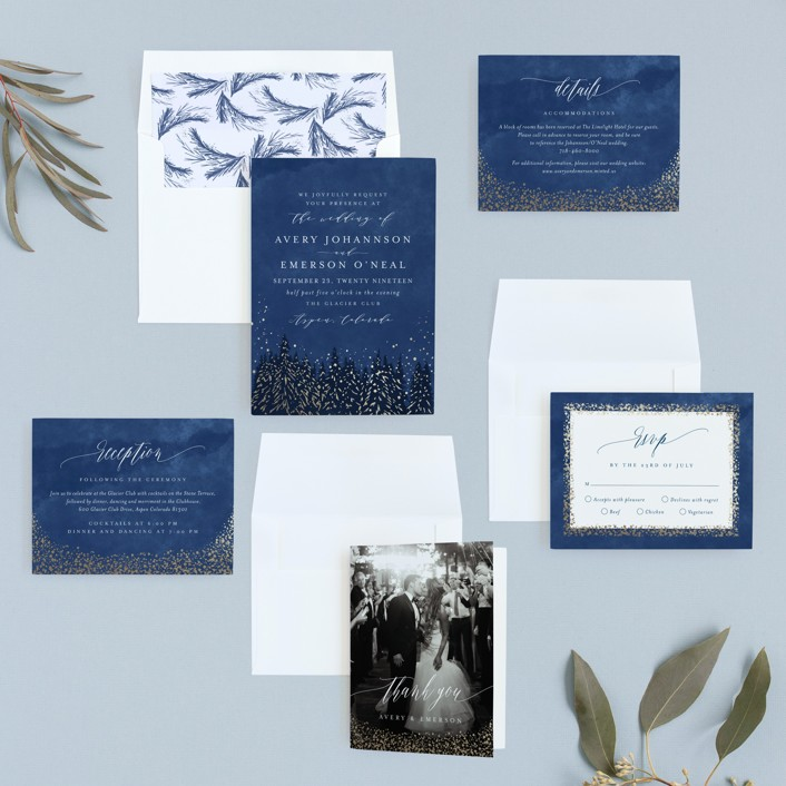 Aspen Foil-Pressed Wedding Invitations By Kristie Kern
