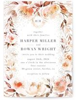 Monogrammed watercolor floral