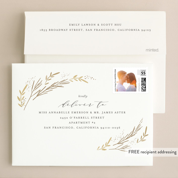 Wheat Field Foil-Pressed Wedding Invitations By Kristie