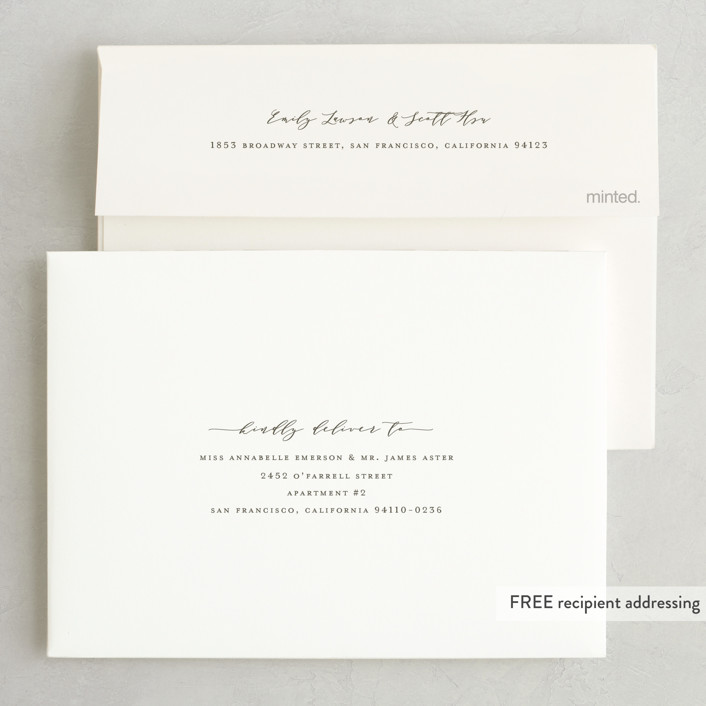 Oceans foil pressed wedding invitations by wildfield paper co minted envelope design stopboris Image collections