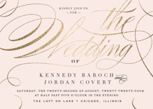 Filigree Foil-Pressed Wedding Invitations By Carrie ONeal