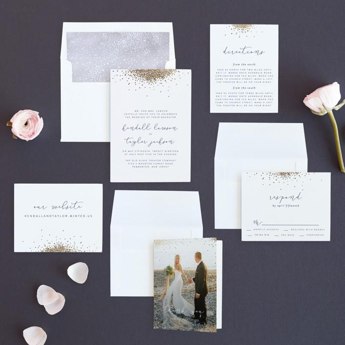 Confetti Foil-Pressed Wedding Invitations by Julia Hall | Minted