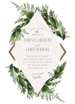 Diamante Foil-Pressed Wedding Invitations By Leah Bisch