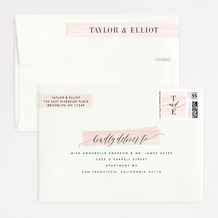 Effervescent Foil-Pressed Wedding Invitations By Kristie