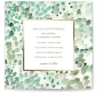 painted wedding Foil-Pressed Wedding Invitations