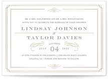 This is a gold foil stamped wedding invitation by Kristen Smith called Gilded Gala with foil-pressed printing on signature in standard.