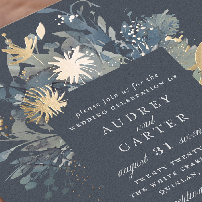 Fantasy Wedding Invitations: Fantasy Foil-Pressed Wedding Invitations By Lori Wemple