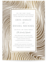 This is a gold foil stamped wedding invitation by Erin Deegan called Lined with foil-pressed printing on signature in standard.