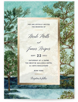 This is a gold foil stamped wedding invitation by Elly called Nature with foil-pressed printing on signature in standard.