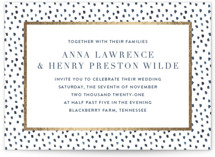 This is a gold foil stamped wedding invitation by Lagniappe Paper called West Village with foil-pressed printing on signature in standard.