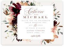This is a beige foil stamped wedding invitation by Leah Bisch called harvest with foil-pressed printing on signature in standard.