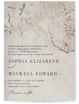 This is a brown foil stamped wedding invitation by Basil Design Studio called Sophia with foil-pressed printing on signature in standard.