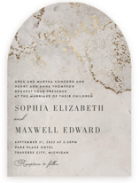 This is a brown foil stamped wedding invitation by Lisa Assenmacher called Sophia with foil-pressed printing on signature in standard.
