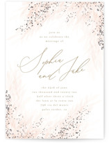 This is a pink foil stamped wedding invitation by Kristie Kern called Opus with foil-pressed printing on signature in standard.