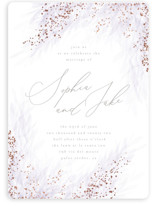 This is a purple foil stamped wedding invitation by Kristie Kern called Opus with foil-pressed printing on signature in standard.