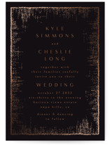 This is a black foil stamped wedding invitation by Phrosne Ras called Dazzling with foil-pressed printing on signature in standard.