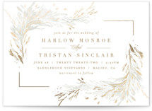 This is a brown foil stamped wedding invitation by Kristie Kern called Fields with foil-pressed printing on signature in standard.