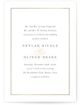 This is a white foil stamped wedding invitation by Jessica Williams called Bianca with foil-pressed printing on signature in standard.