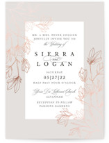 This is a grey foil stamped wedding invitation by Kate Ahn called Graceful with foil-pressed printing on signature in standard.