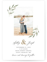 This is a white foil stamped wedding invitation by Sara Grzina called Olive & Ampersand with foil-pressed printing on signature in standard.