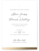 This is a grey foil stamped wedding invitation by Shari Margolin called Sweet Union with foil-pressed printing on signature in standard.