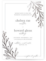 This is a grey foil stamped wedding invitation by Emma Leigh Design called Simply Elegant with foil-pressed printing on signature in standard.