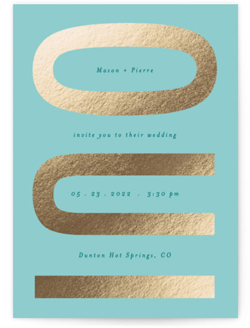 Oui Foil-Pressed Wedding Invitations