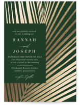 This is a green foil stamped wedding invitation by Robin Ott called Pristine with foil-pressed printing on signature in standard.