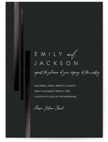 This is a black foil stamped wedding invitation by Erika Firm called City View with foil-pressed printing on signature in standard.