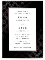 This is a black foil stamped wedding invitation by Snow and Ivy called jazz classic with foil-pressed printing on signature in standard.