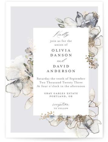 Vitrage Foil-Pressed Wedding Invitations