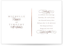 This is a brown foil stamped wedding invitation by Jackie Mangiolino called Better Half with foil-pressed printing on signature in standard.