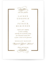 This is a brown foil stamped wedding invitation by Kimberly FitzSimons called Preamble with foil-pressed printing on signature in standard.