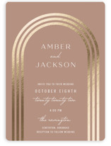 This is a brown foil stamped wedding invitation by Brittany Braithwaite called Eternal Love with foil-pressed printing on signature in standard.