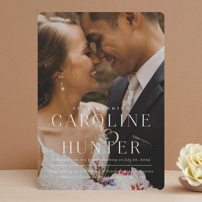 """Entwine"" - Foil-pressed Wedding Invitations in Pearl by Jennifer Postorino."