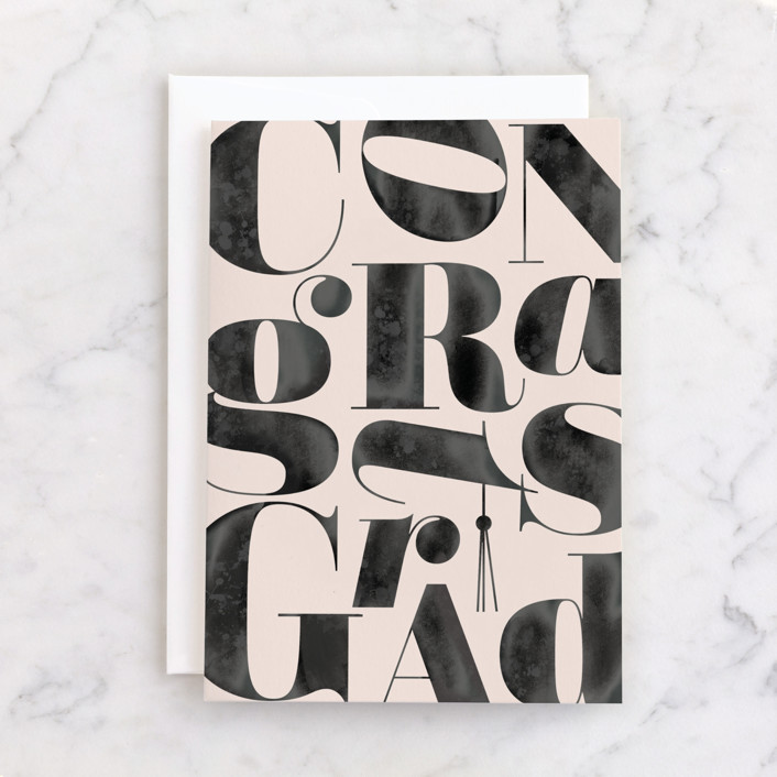 """""""Boldly Stated"""" - Individual Graduation Greeting Cards in Ink by Creo Study."""