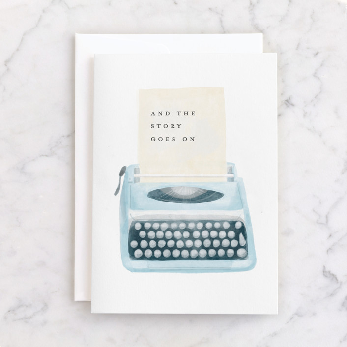 """""""Type"""" - Individual Graduation Greeting Cards in Cream by Tennie and Co.."""