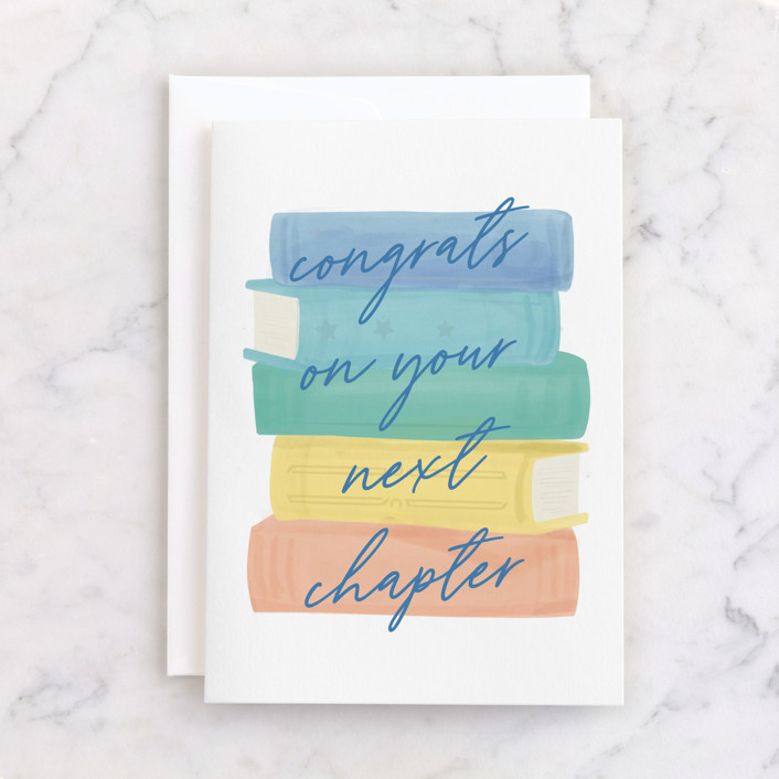 """chapter"" - Individual Graduation Greeting Cards in Mint by Tennie and Co.."