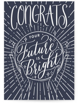 This is a blue graduation card by Shannon Chen called Crystal Ball with standard printing on signature in greeting cards.
