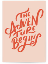 This is a orange graduation card by Lori Wemple called The Adventure Begins with standard printing on signature in greeting cards.