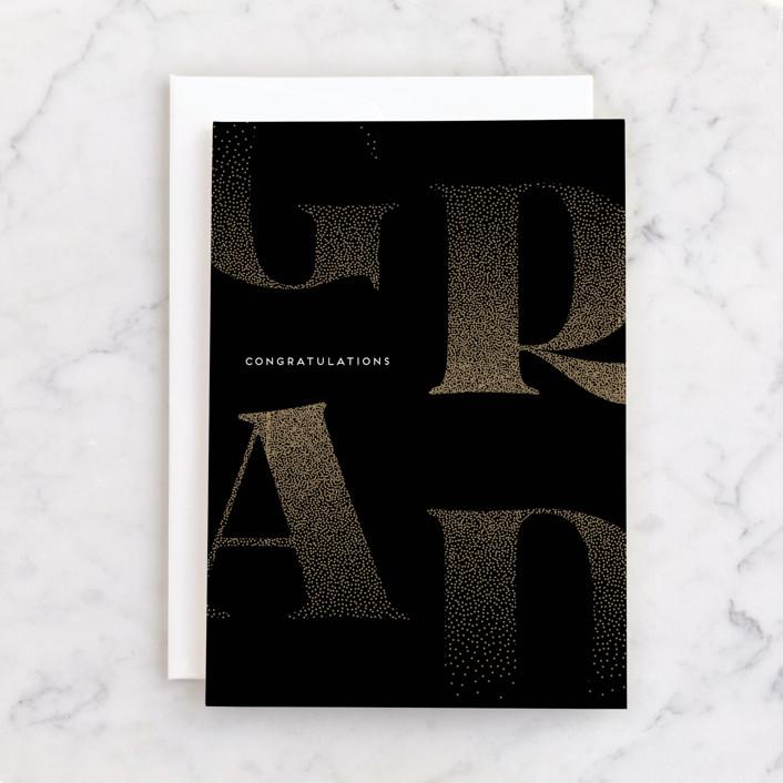 """Dispersed"" - Individual Graduation Greeting Cards in Inky by Kaydi Bishop."