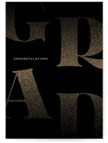 This is a black graduation card by Kaydi Bishop called Dispersed with standard printing on signature in greeting cards.